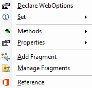 WebOptions in Excel
