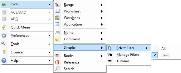 Customizing the Excel VBA menu