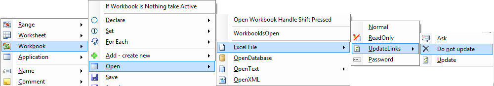 Opening an excel workbook in vba using code vba to insert the code for opening an excel file without updating links ibookread ePUb