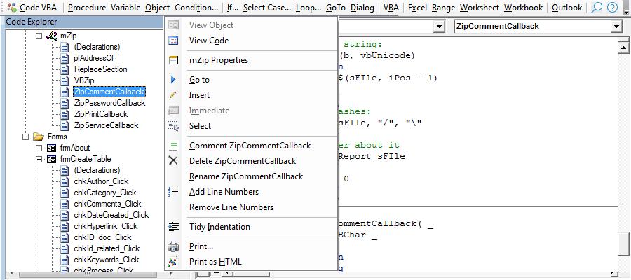 Code explorer replaces project explorer