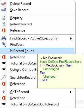Using DoCmd FindRecordto find a record